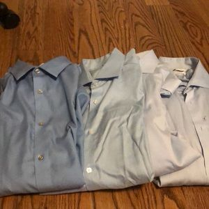 Lot of 4 Calvin Klein Slime Fit Dress Shirts